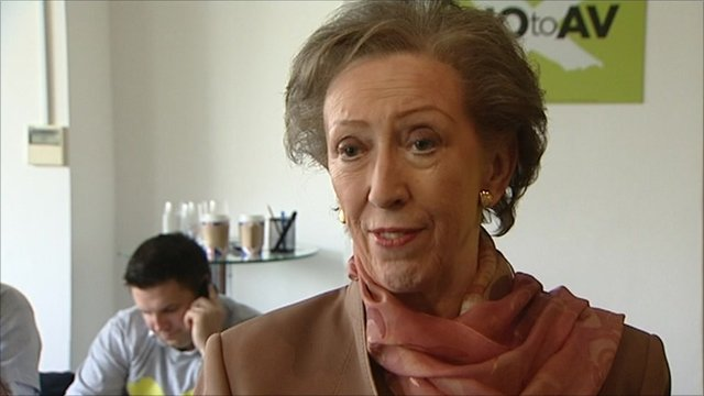 Margaret Beckett at the No to AV campaign headquarters