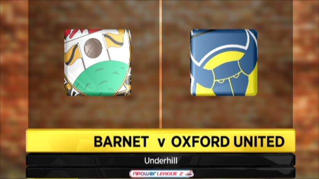 Barnet 2-2 Oxford United