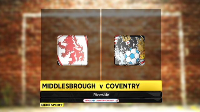Middlesbrough 2-1 Coventry
