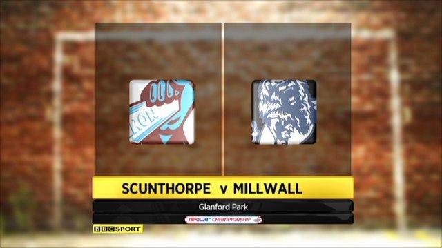highlights Scunthorpe v Millwall