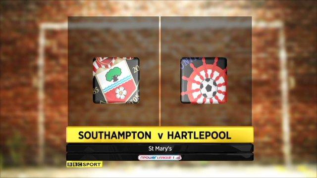 highlights Southampton v Hartlepool