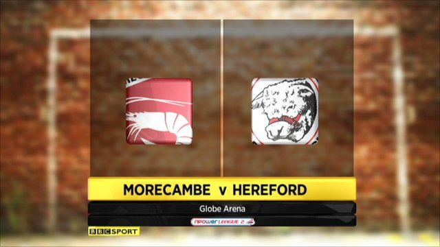 Highlights - Morecambe v Hereford