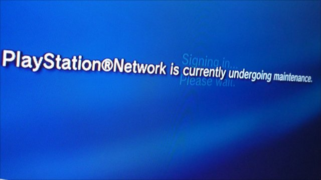 PlayStation Network announcement when accessed through a gaming console