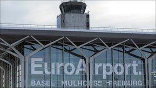 File photo of EuroAirport near Basel, Switzerland and Mulhouse, France - 26 December 2010
