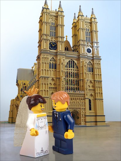 Bbc News William And Kate In Lego Royal Wedding In