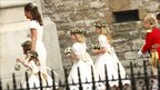 Pippa Middleton, sister of the bride, and other bridesmaids