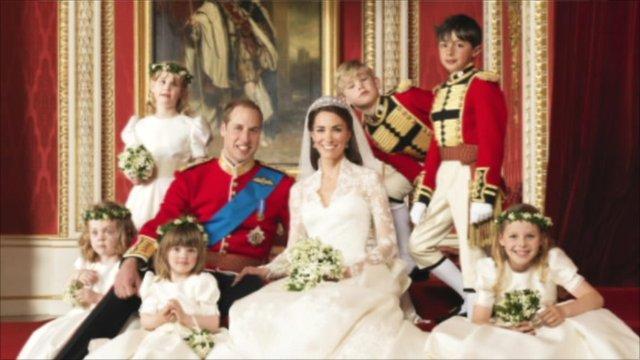 Official royal wedding photo
