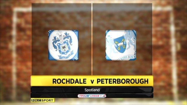 Highlights - Rochdale v Peterborough