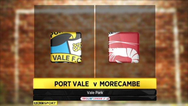 Port Vale 7-2 Morecambe