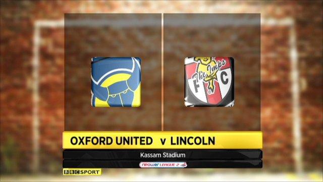 Oxford Utd 2-1 Lincoln City