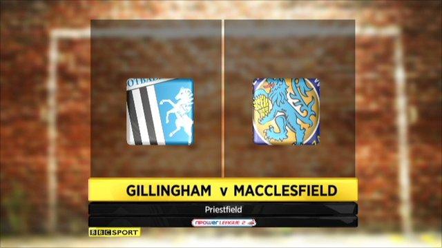 Gillingham 2-4 Macclesfield