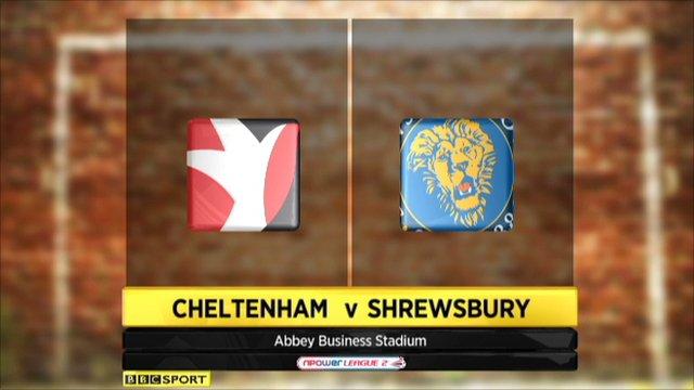 Cheltenham 0-1 Shrewsbury