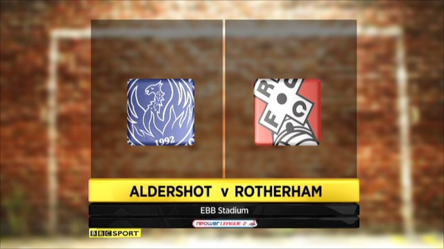Aldershot 2-2 Rotherham