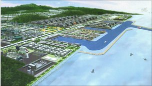 Artist's image of the port project