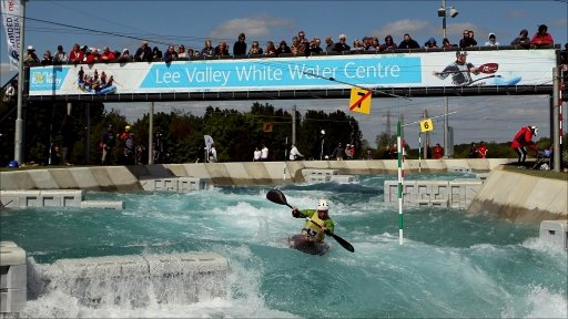 Slalom canoeing at Lee Valley