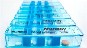 A daily pill container