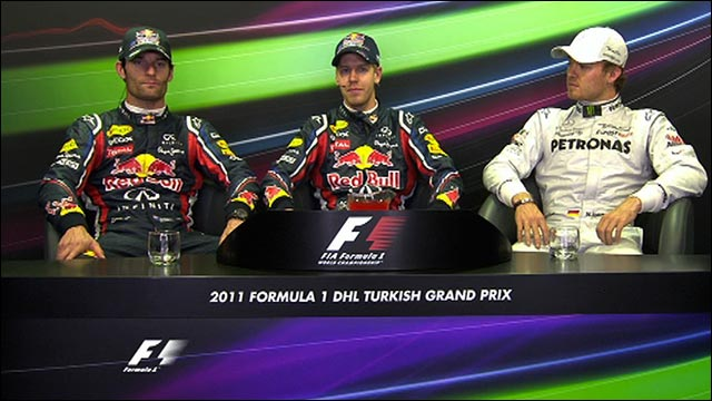 Top three drivers' qualifying reaction