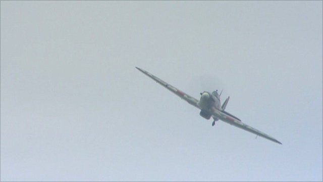 Hurricane flypast in Hull