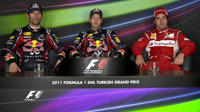 Turkish Grand Prix - Top three drivers