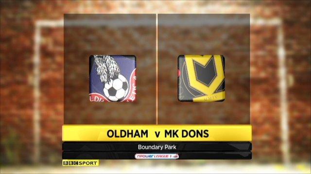 Oldham 1-2 MK Dons