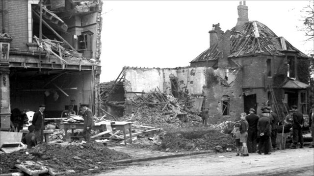 Buildings in Hull destroyed during the Blitz