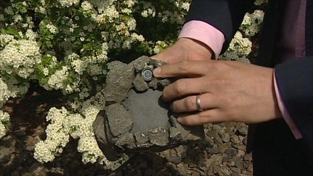 Camera's hidden in rock