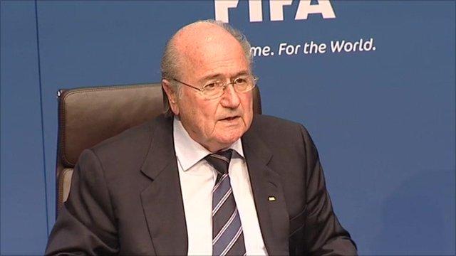 Fifa president, Sepp Blatter