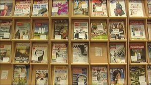 Publications in a Newham library