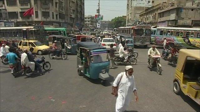 Karachi city scene