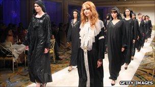 Abaya fashion show in Paris