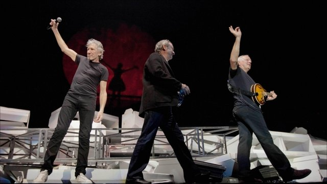 Nick Mason, Roger Waters and David Gilmour