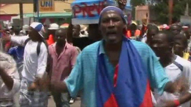 Clashes in Haiti