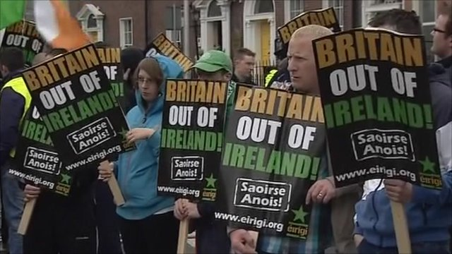 Protesters in Ireland