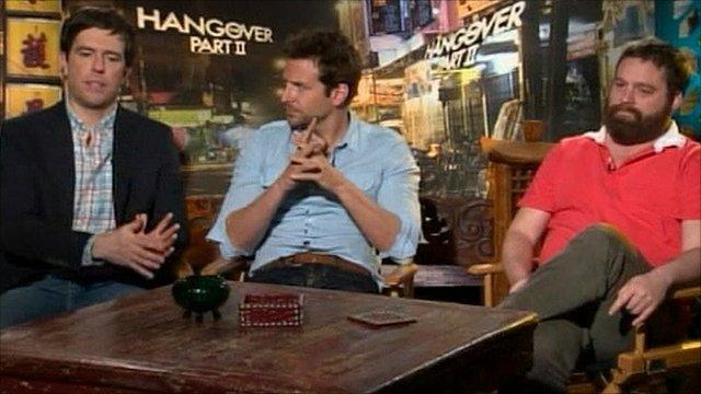 Ed Helms, Bradley Cooper and Zach Galifianakis