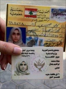 Najla Hariri's driving licence