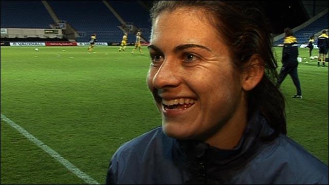 England goalscorer Karen Carney