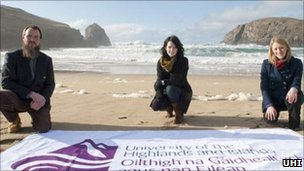 Hebridean Marine Energy Futures team members. Pic: UHI