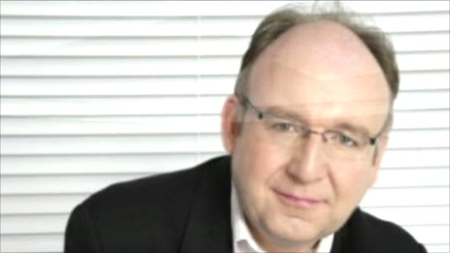 BBC racing correspondent Cornelius Lysaght