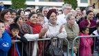Crowds lining the route at Southampton Bollywood Baraat