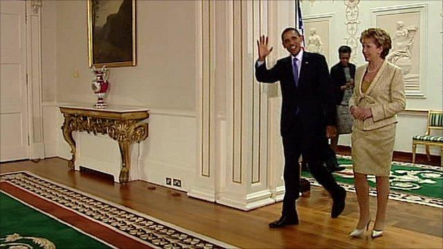 Barack Obama and Mary McAleese