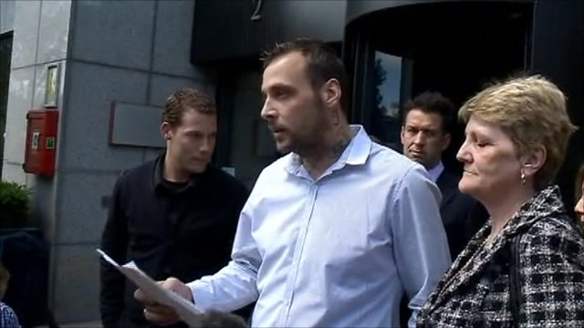 Paul King reading a statement