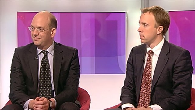 Conservative MPs Mark Reckless and Matthew Hancock