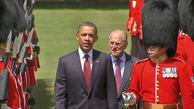 President Obama with the Duke of Edinburgh