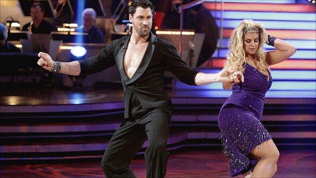 Actress Kirstie Alley and dancer Maksim Chmerkovskiy
