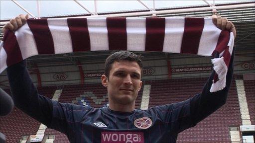 Hearts striker John Sutton