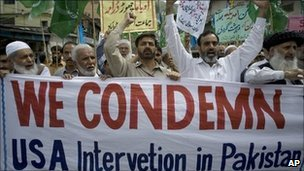 Anti-US protest in Abbottabad, Pakistan - 6 May 2011