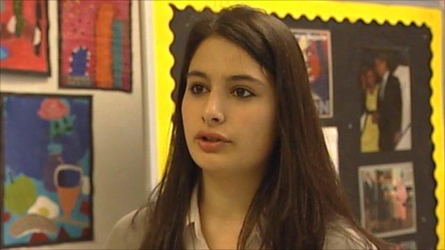 Student at Elizabeth Garrett Anderson school