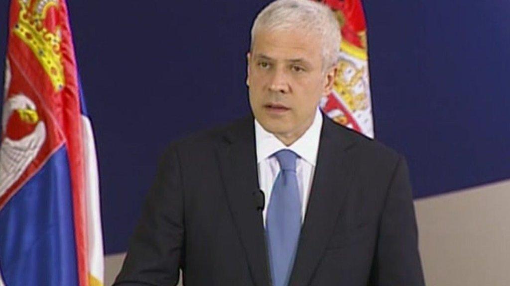 Serbian President Boris Tadic