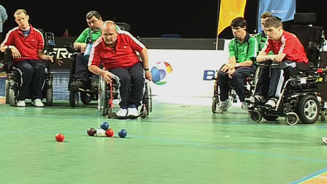 England boccia players play Ireland
