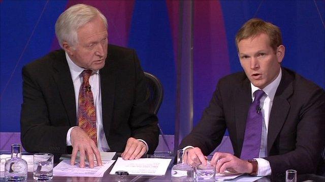 David Dimbleby with Jeremy Browne